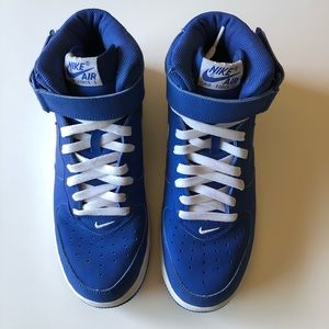 Nike Shoes - SOLD!! Nike Sport Royal MidTop Air Force 1